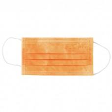 Медицинская маска Euronda оранжевая 3-слойная, 50шт