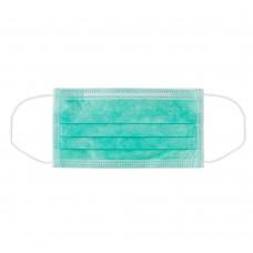 Медицинская маска Euronda зеленая 3-слойная, 50шт