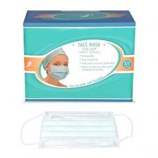 Медицинская маска Гекса  3-слойная голубая с логотипом Иволга, 100шт