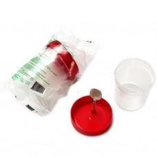 Контейнер для биопроб БПАмк-60-04 ЕЛАТ 60 мл с лопаткой в индивидуальной упаковке