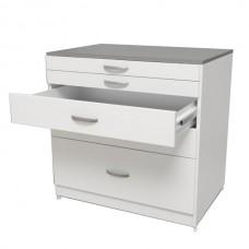 Лабораторный стол высокий без тумб СЛ-03-МСК (150 серия)