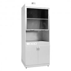 Шкаф вытяжной ШВ-01-МСК с тумбой, без подвода воды, столешница нерж. сталь (эконом)