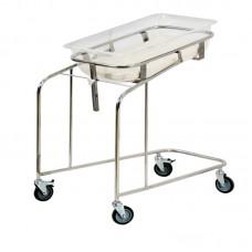 Кровать-тележка для новорожденных МСК-5130 нержавеющая сталь