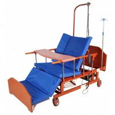 Кровать функциональная 10-ти секционная с функцией кардиокресла электрическая DB-11А (ME-5228H-10) ЛДСП Венге