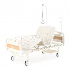 Кровать механическая Med-Mos Е-8 (MM-2014Н-02) (2 функции) с полкой и столиком