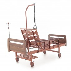 Кровать механическая Med-Mos Е-8 (MM-2024Н-00) (2 функции) ЛДСП с полкой и обеденным столиком