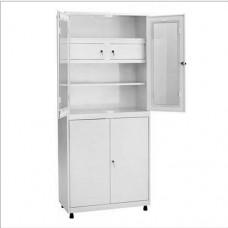 Шкаф металлический с двумя створками ШКВ-04 с трейзером