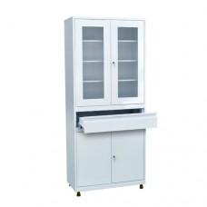 Шкаф металлический с двумя створками для кабинета врача ШКВ-07