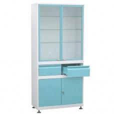 Шкаф металлический с двумя створками ШМС-2-А-Р-2-Ц