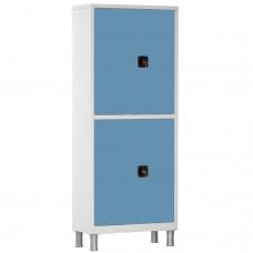Шкаф металлический с двумя створками и ригельным замком МСК-648.01-11 (цветные дверки)