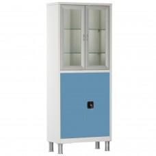 Шкаф металлический с двумя створками и ригельным замком МСК-647.12 (цветные дверки)