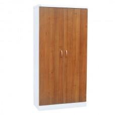 Шкаф металлический с двумя створками для документов с фасадом из лдсп