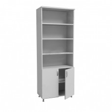 Шкаф для документов из ЛДСП двухстворчатый ШД 2/11 на опорах