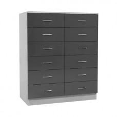 Шкаф из ЛДСП для картотеки ШК 2/02 с 12-ю ящиками