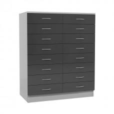 Шкаф из ЛДСП для картотеки ШК 2/03 с 16-ю ящиками