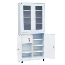 Шкаф металлический с двумя створками для кабинета врача ШКВ-05
