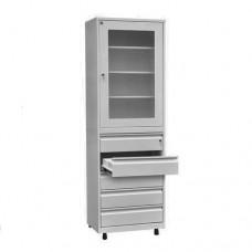 Шкаф металлический с одной створкой ШМД-07
