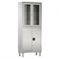 Шкаф металлический с двумя створками и ригельным замком МСК-5647.12