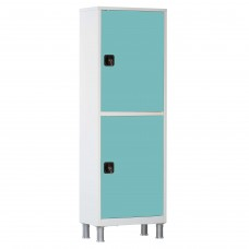 Шкаф металлический с одной створкой и ригельным замком МСК-645.01-11 цветные дверки