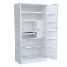 Шкаф металлический с двумя створками для медикаментов