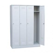Шкаф для одежды четырехстворчатый металлический (разборный)