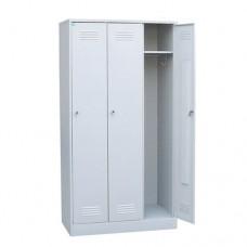 Шкаф для одежды металлический трёхсекционный (разборный)