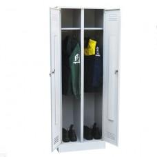 Шкаф для одежды двухстворчатый металлический