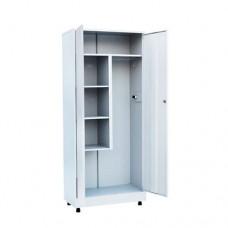Шкаф металлический для хозяйственного инвентаря двухстворчатый