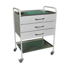 Столик инструментально-процедурный с тремя ящиками СИ-04 (3 ящика)