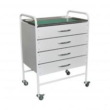 Столик инструментально-процедурный с четырьмя ящиками СИ-12 (4 ящика)