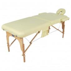 Стол массажный складной деревянный 2-х секционный (МСТ-003Л) JF-AY01