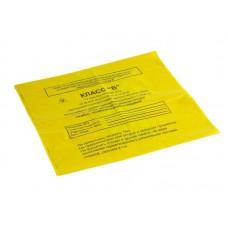 Пакет одноразовый для утилизации отходов класса Б (желтый) (700*1100)