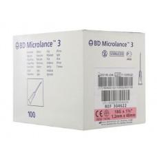 Игла инъекционная 18G (1,2 x 40 мм) тонкая стенка, короткий срез BD Microlance