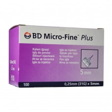 Игла для шприц-ручки 31G (0,25 x 5,0 мм) BD Micro-Fine Plus