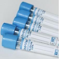 Пробирки вакуумные LIND-VAC с цитратом натрия 3,8 % 16х100 8,1 мл для коагулологии
