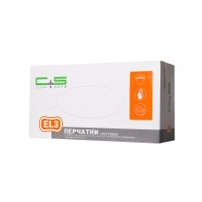 Перчатки латекс, текстура, PF, 1-крат.хлор., High Risk EL3 (№50) Clean+Safe №7/10