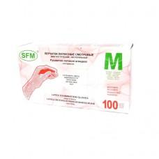 Перчатки латекс, текстура, PF, нестерил, неанат/ф, диагн. (№100) SFM