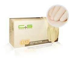 Перчатки латекс, текстура, PF, 1-крат.хлор., EL1 (№100) Clean+Safe №2