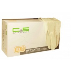 Перчатки латекс, текстура, PF, 2-крат.хлор., EL2 (№100) Clean+Safe №1