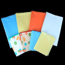 Клеенка подкладная с ПВХ покрытием 0,7х1,0м цвета разные (20шт./упаковке)