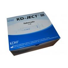 Шприц туберкулиновый 1мл KDM, съемная игла 27G (0,4х12), трехкомпонентный