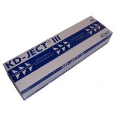 Шприц 2мл KDM, съемная игла 23G (0,6х30), трехкомпонентный